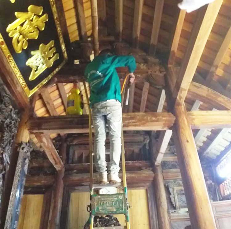 diệt mối nhà gỗ cổ